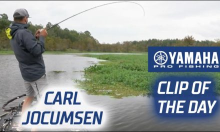 Bassmaster – Yamaha Clip of the Day – Jocumsen's last second catch to gain the lead