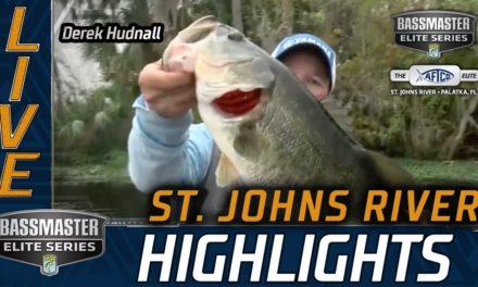 Bassmaster – Derek Hudnall's early big bite on Day 3 (St. Johns River)