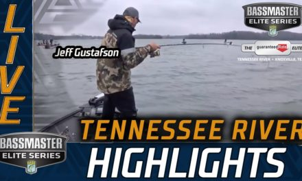 Bassmaster – Jeff Gustafson staying on top of the leaderboard
